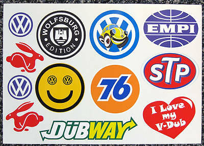 VW Selection stickers decals Golf Beetle Polo Camper