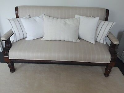 Antique Frame Contemporary Style settee Laura Ashley fabric very good condition