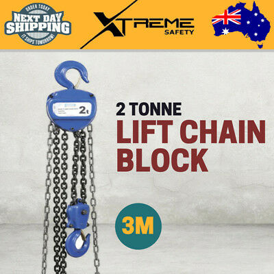 New Kincrome Heavy Duty 2 Tonne 3 Metre Dual Lifting Chain Block Pulley Hook