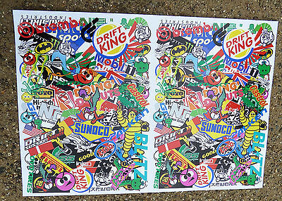 RC DRIFT STICKER BOMBING A4 SHEET stickers decals Tamiya HPI Losi Drift-R Kyosho