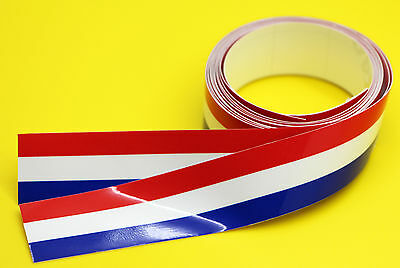 FRENCH FLAG STRIPE TAPE sticker 1220x25mm 2 LENGTHS!