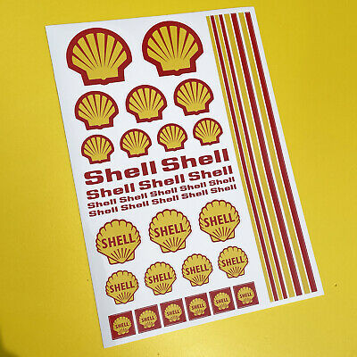 RC SHELL stickers decals 1/18 scale losi mini xray hpi 18th associated radical