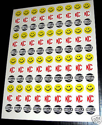 10th scale Spot Lights retro vintage style RC stickers decals