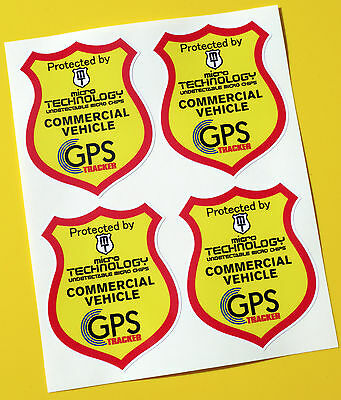VAN TRUCK GPS TRACKER UNDETECTABLE CHIP  anti theft SECURITY stickers decals