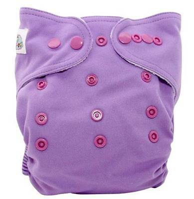 Purple Modern Cloth Nappy Diaper with Insert (MCN, Washable)