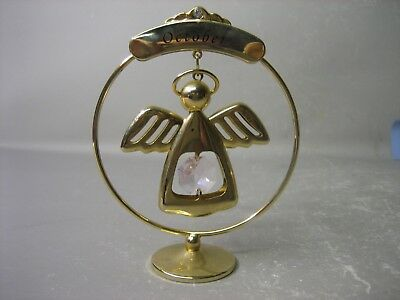 October - Crystal Temptations 24K gold plated miniature decoration