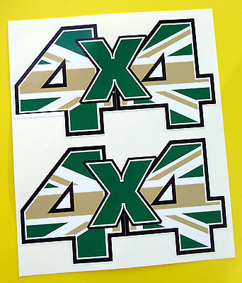 4X4 OFF ROAD STICKERS DECALS 'CAMO' Union Jack ideal for Land Rover Defender
