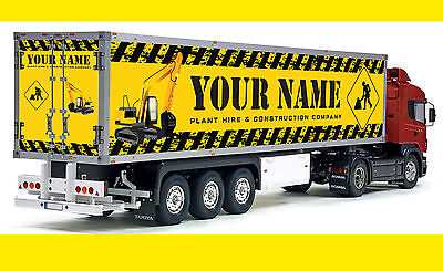 Tamiya 1/14 scale Truck CUSTOMISED PERSONALISED Reefer trailer stickers decals