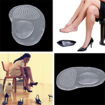1Pair Gel Silicone Arch Support Heel Flat Foot Orthotic Insole Insert Cushion FW