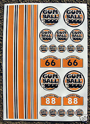 RC Gumball stickers decals Mardave Tamiya HPI Losi