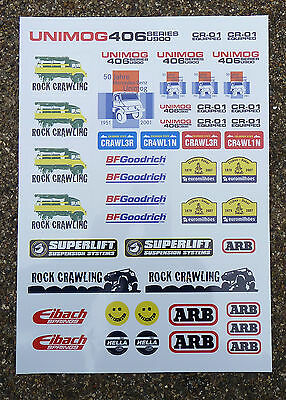 RC Rock Crawler Stickers Decals Tamiya CR-01 Unimog