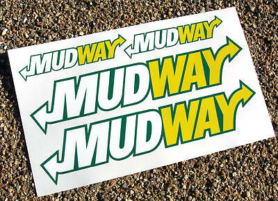MUDWAY 4x4 Off Road fun decal sticker Land Rover Jeep