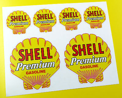 SHELL PREMIUM Classic Vintage Style stickers decals Rally Race Track car bike