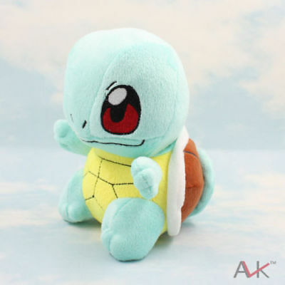 """New 6.5"""" SQUIRTLE Pokemon Stuffed Soft Plush Toy Doll figure Great gift"""