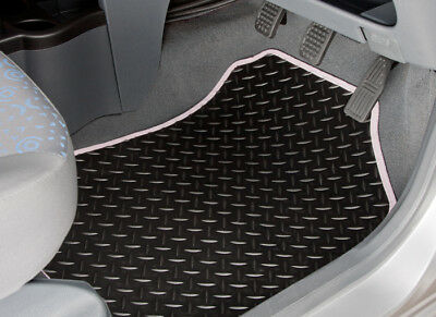 Peugeot Partner Tepee (2008-On) Tailored Rubber Car Mats With White Trim [2142]