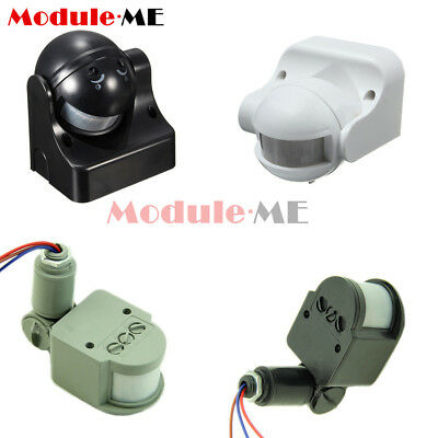 White/Black/Grey DC12V/AC 220-240V 12M 180° PIR Motion Sensor Detector Switch