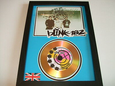 blink 182  SIGNED  GOLD CD  DISC  22