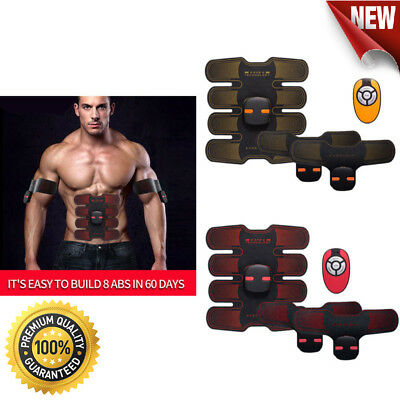 Portable EMS Abdominal Muscle Toner ABS Trainer Body Fit Toning Belt Trainer