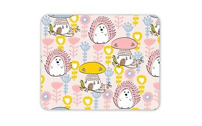 Cute Pink Hedgehog Mouse Mat Pad - Girls Kids Mum Sister Gift Computer #13200