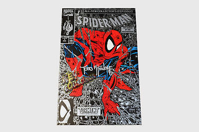 Marvel Spider-man #1 1990 SILVER - SIGNED BY TODD MCFARLANE + COA