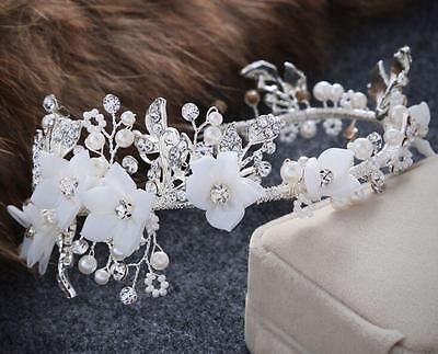 Diamante Wedding Headpiece Beaded Alice Band Crystal Bridal Accessories 1 Piece