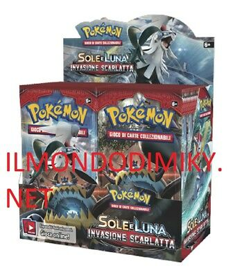 Pokemon Sole e Luna Invasione Scarlatta  BOX 36 BUSTE ITALIANO DAL 3 NOVEMBRE