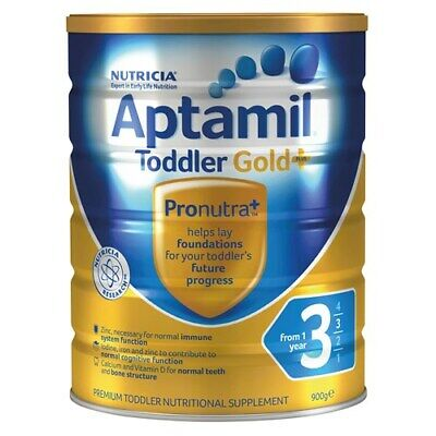 APTAMIL GOLD + 3 Toddler Nutritional Supplement From 1 year 900g - FREE SHIP Aus