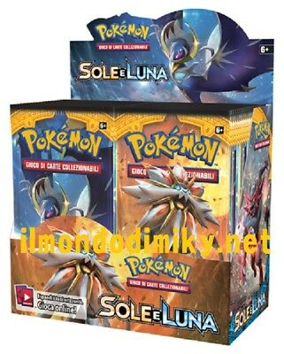 Pokemon Sole e Luna Sole box 36 buste in ITALIANO