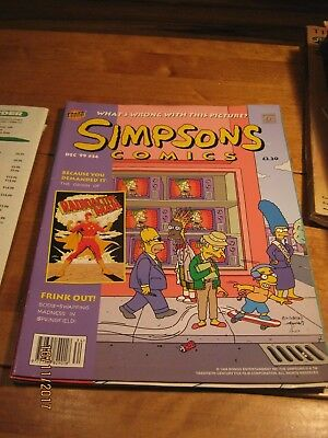 "BONGO COMICS  THE ""SIMPSONS"" December 1999 #34"