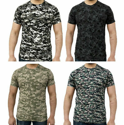 Mens Game Camouflage Army Printed Camo Military T Shirt Tops - GMT18