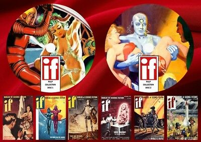 IF Science Fiction Pulp Magazines On Two DVD Rom's