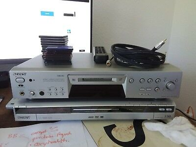 Sony MDS-JE780 minidisc + 9 discs + cases + remote + OFC analogue cables