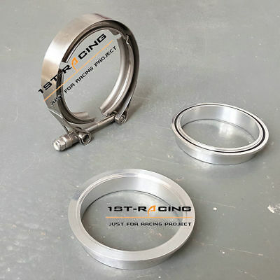 """Intercooler Inlet Pipe 3"""" V-Band 76mm Aluminium Flange +Stainless Clamp +O Ring"""
