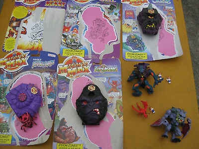 5 Vintage Mighty Max Playsets -Some With Backing Cards