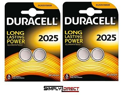 Duracell CR2025 Batteries Lithium Battery 3V Button/Coin Cell CR 2025-Free post