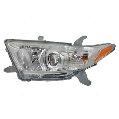 New Head Light Assembly To2502208 Fits 2011-2013 Toyota Highlander Left Side
