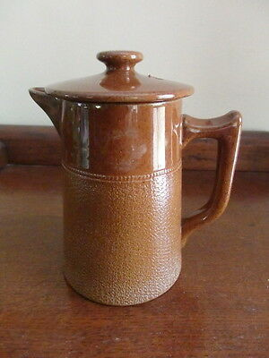 Vintage Fowler 2-Cup Coffee Pot and English Brown Baetty Teapot