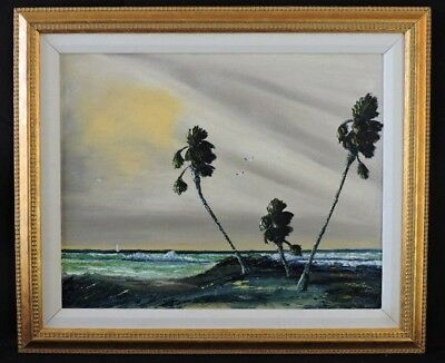 "CHARLES ""CHICO"" WHEELER HOF FL HIGHWAYMEN OIL ON CANVAS PANEL SIGNED 2x FRAMED"