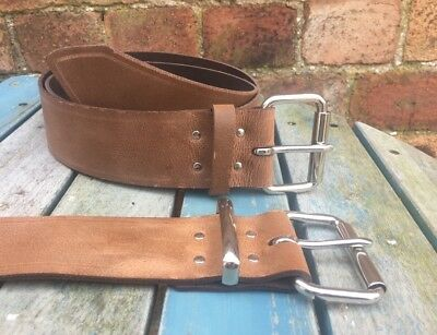 Brown Worn Look Belt 2 Inch Wide 100% Real Leather Handmade Choice of Buckle