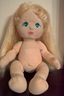 Vintage My Child Doll Blonde With Green/Blue Eyes
