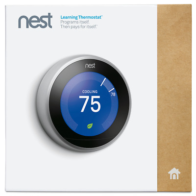 NEST Learning Thermostat 3rd Gen Home Automation Smart Temperature Control NEW B