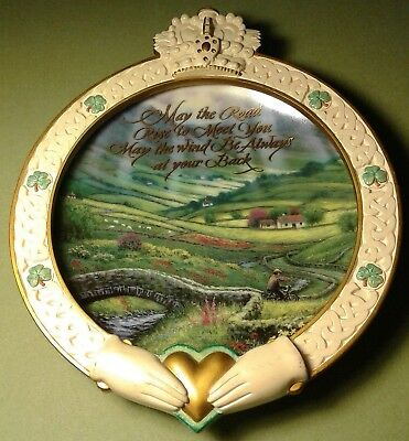 Bradford Exchange 1ST Irish Blessing Series MAY THE ROAD RISE TO MEET YOU Excell
