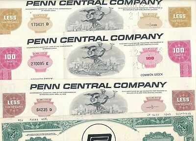 Lot/Set: 4 x Penn Central Company, USA, Eisenbahn