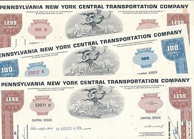 Lot/Set: 3 x Pennsylvania New York Central Transportation Co, USA, Eisenbahn