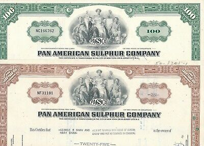 Lot/Set: 2 x Pan American Sulphur Co., 1965 u. 1967