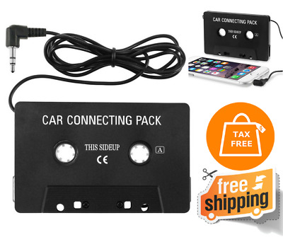 New Audio Car Cassette Tape Adapter Converter 3.5 MM For Iphone Ipod MP3 AUX CD