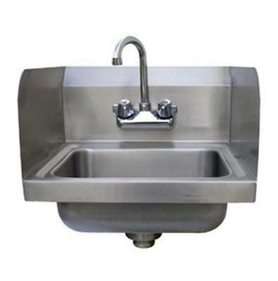 "Advance Tabco Splash Mount Hand Sink 14""x10"" Side Splashes & Faucet"
