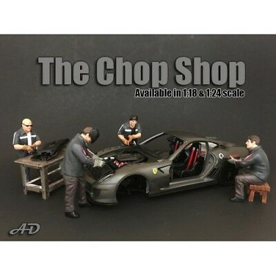 1/24 scale NEW -  Chop Shop  Complete Set of 4 figures from  American Diorama