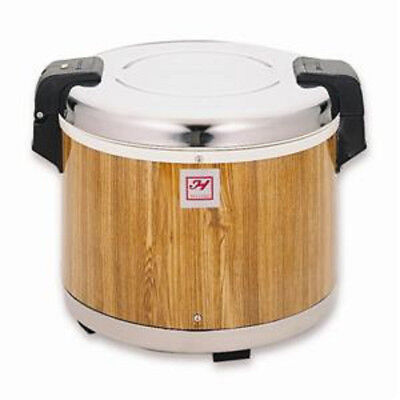 Thunder Group 30 Cup Stainless Steel with Wood Grain Electric Rice Warmer