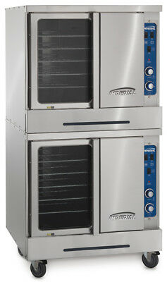 Imperial Range Turbo-Flow Manual Double Deck Gas Stainless Convection Oven